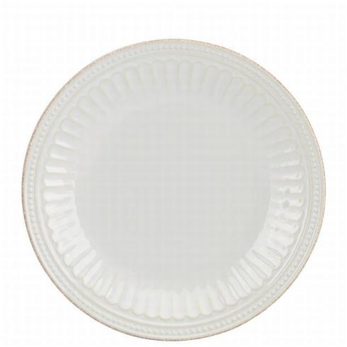 French Perle Groove White Accent Plate collection with 1 products
