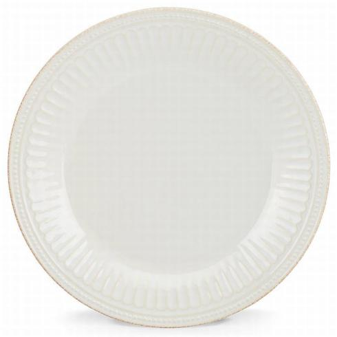 French Perle Groove White Dinner collection with 1 products