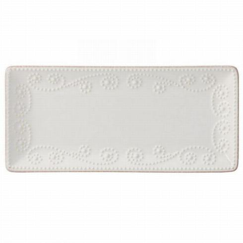 French Perle White Rectangular Tray Small collection with 1 products