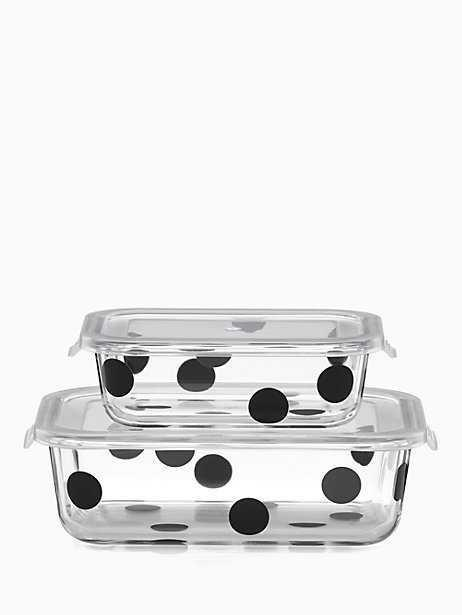 $25.00 Deco Dot Rectangular Food Storage/2`