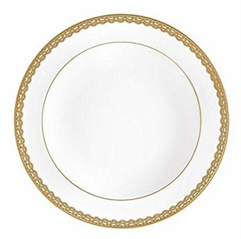$49.00 Lismore Lace Gold Rim Soup Bowl-Discontinued