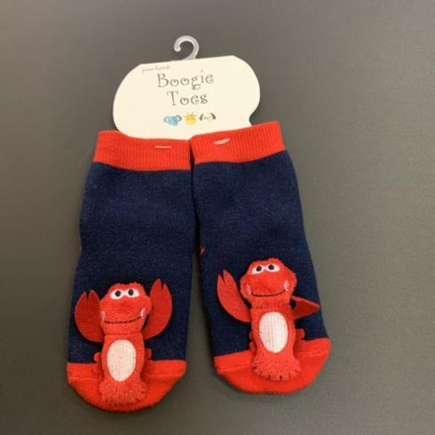 $13.95 Boogie Toes Socks-Crawfish