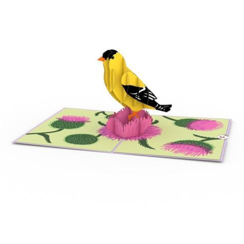 $13.00 Pop-up Card-Gold Finch