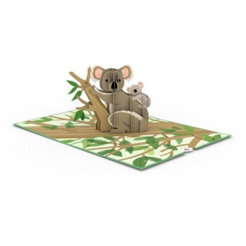 $13.00 Pop-up Card-Koala Family