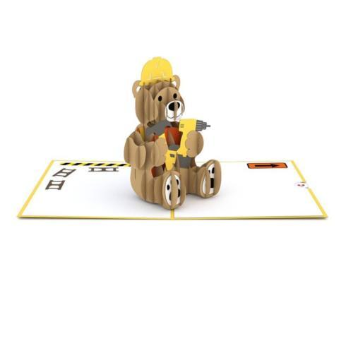$13.00 Pop up Card-Construction Bear