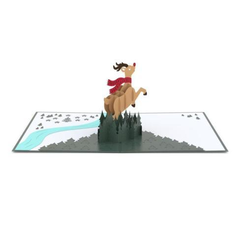 $13.95 Pop Up Card-Rudolph