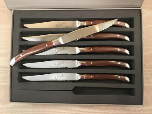 Pieces of Eight Exclusives   Virgule Set/6 Steak Knives $80.00