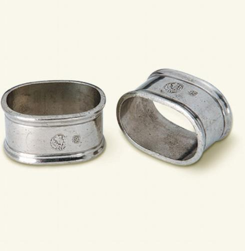 Match   Oval Napkin Ring Pair $86.00