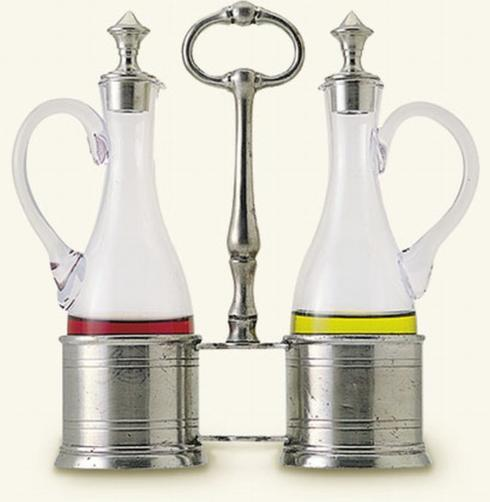 Match   Oil & Vinegar Set with Pewter Tops $414.00