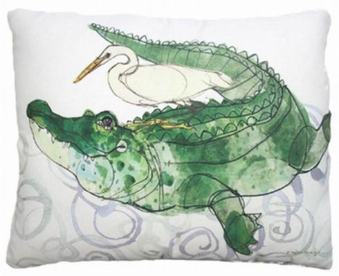 Indoor/outdoor pillow, Gator & Egret collection with 1 products
