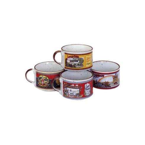One Handle Gumbo Bowls-Set of 4 asst. collection with 1 products