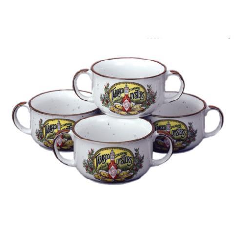 Pieces of Eight Exclusives Louisiana Favorites Gumbo Gumbo Bowl-2 Handle Tabasco Set/4 $75.00