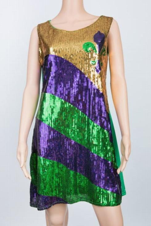 Sequin Mardi Gras Dress-Fleur de Lis collection with 1 products