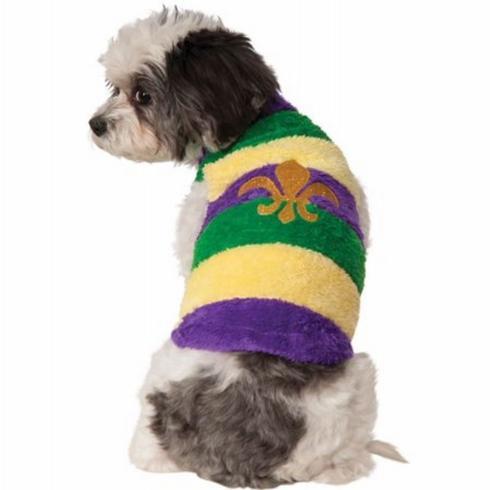 $9.50 Mardi Gras Dog Sweater