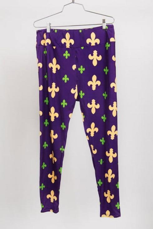 Mardi Gras Leggings-Fleur de Leggings collection with 1 products