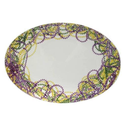$35.95 Mardi Gras Beads Platter