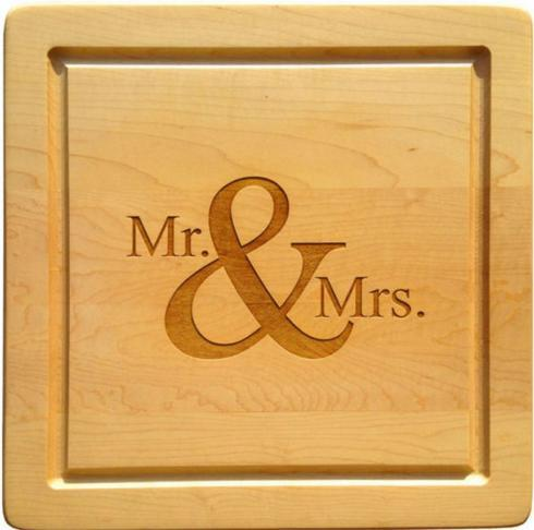 $88.00 Square Cutting Board-Mr & Mrs