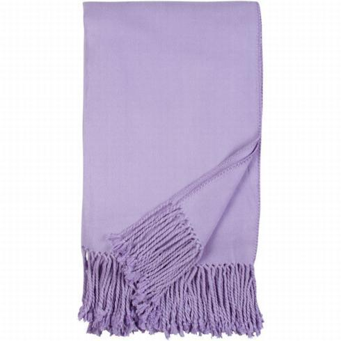 $140.00 Luxxe Fringe Throw-Lavender