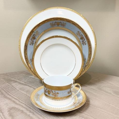 Rochelle Gold with Orsay Powder Blue 5 Piece Place Setting collection with 1 products