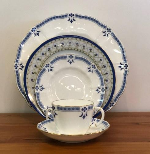 Pieces of Eight Exclusives   Grenville by Royal Crown Derby w/ Val de Loire by Haviland Five Piece Place Setting $481.00