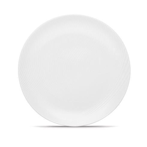 $50.00 Wow Swirl White Round Platter