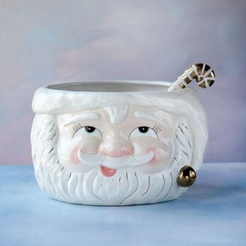 $245.00 Papa Noel Punch Bowl and Ladle
