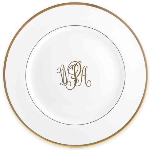 Pieces of Eight Exclusives   Signature Gold Ultra White Salad Monogrammed $59.00