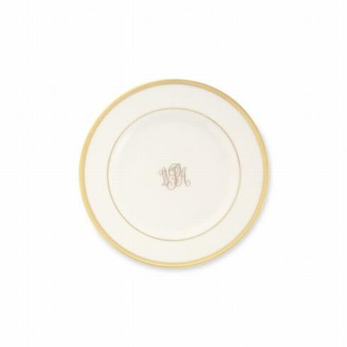 Pieces of Eight Exclusives   Signature Gold Ultra White Bread & Butter Monogrammed $48.00