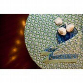 """Pieces of Eight Exclusives   Pesto 86"""" Round Tablecloth $92.00"""