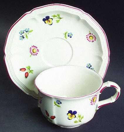 $56.00 Petite Fleur Cup & Saucer