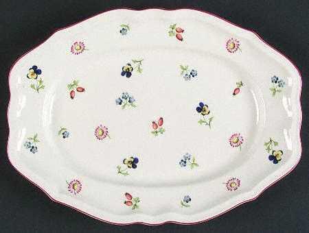 $81.00 Petite Fleur Oval Platter