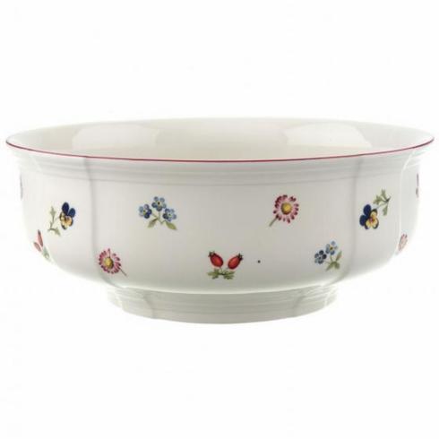 """$174.40 Petite Fleur Serving Bowl 9.75"""""""