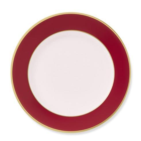 Pieces of Eight Exclusives   Colorsheen Salad Plate-Red with White-Monogrammed $62.00