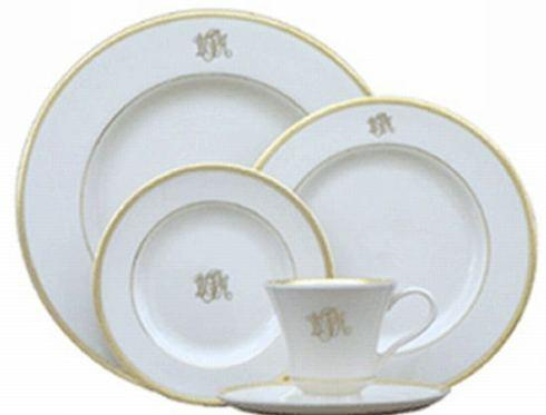 Pieces of Eight Exclusives   Signature Gold Ultra White Cup & Saucer Monogrammed $108.00