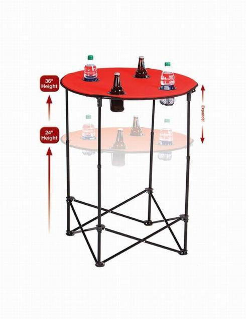 $49.95 Scrimmage Tailgate Table-Red