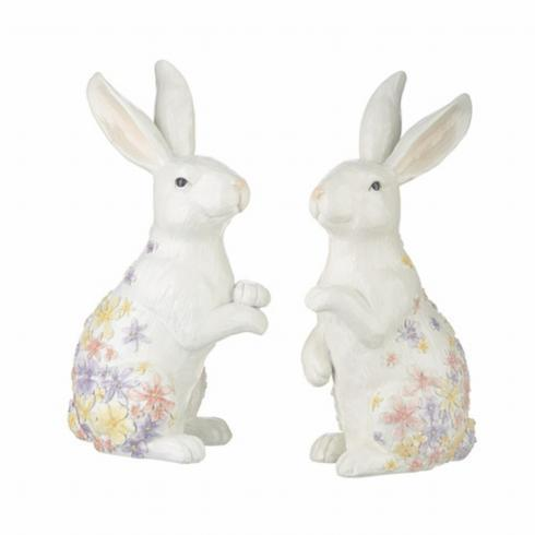 $34.00 Floral Embossed Bunny