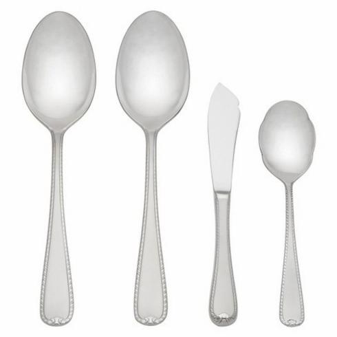 Ribbon Edge Frost Flatware 4 Piece Serving Set collection with 1 products