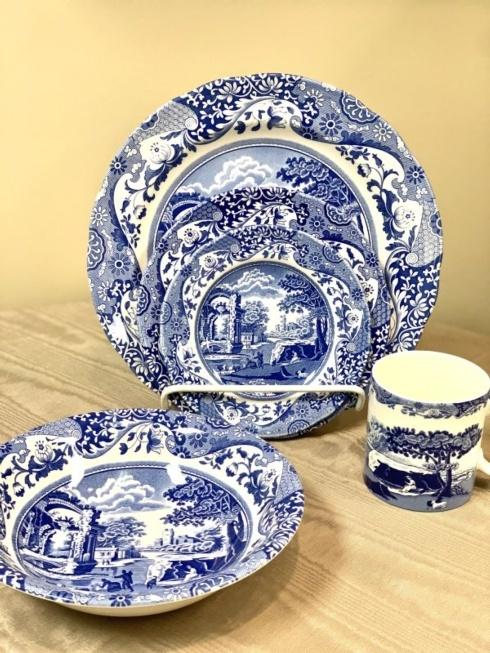 $103.00 Blue Italian by Spode 5 Piece Place Setting