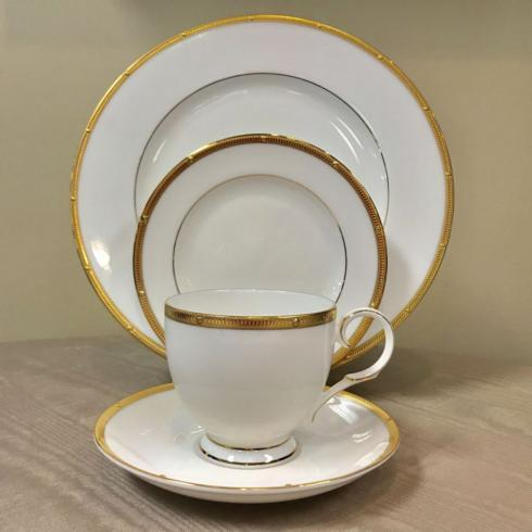 $83.00 Rochelle Gold 4 Piece Place Setting