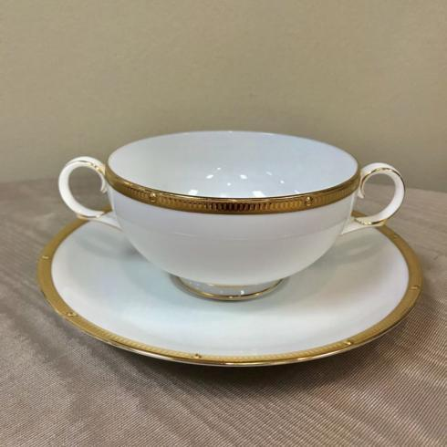 $58.50 Rochelle Gold Cream Soup Cup & Saucer