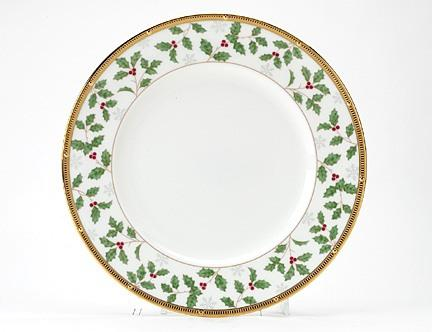 $36.00 Rochelle Gold Holiday Accent Plate