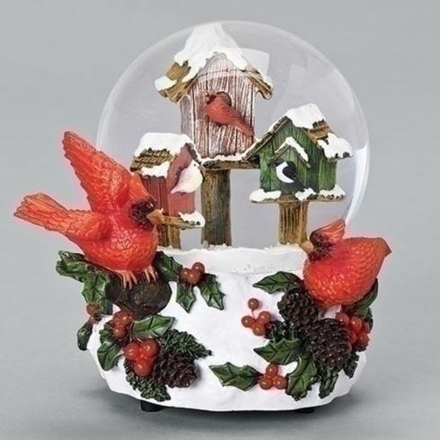 $34.95 Snow Scene-Birdhouse/Cardinal