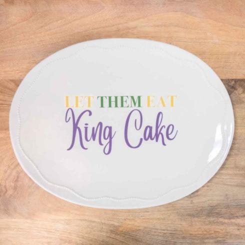Pieces of Eight Exclusives Louisiana Favorites Mardi Gras Let Them Eat Cake Platter $33.00