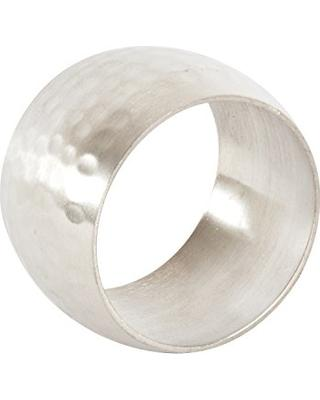 $8.50 Napkin RIng-Round Silver