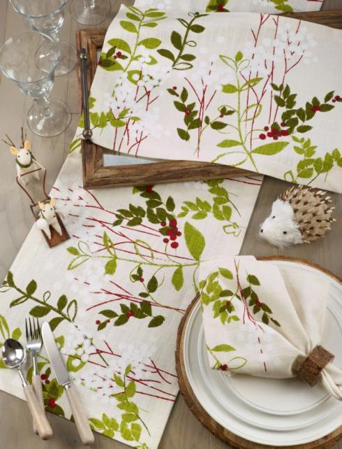 Table Runner-Holiday Botanical