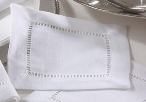 Cocktail Napkin-Hemstitch White collection with 1 products