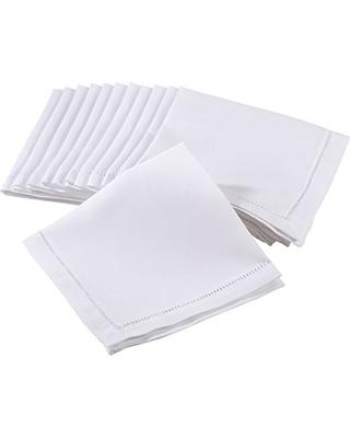 Pieces of Eight Exclusives  Napkins & Placemats Hemstitched White Napkin Each $8.95
