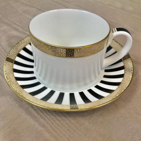 Pieces of Eight Exclusives   Black Satori Cup & Saucer $97.00