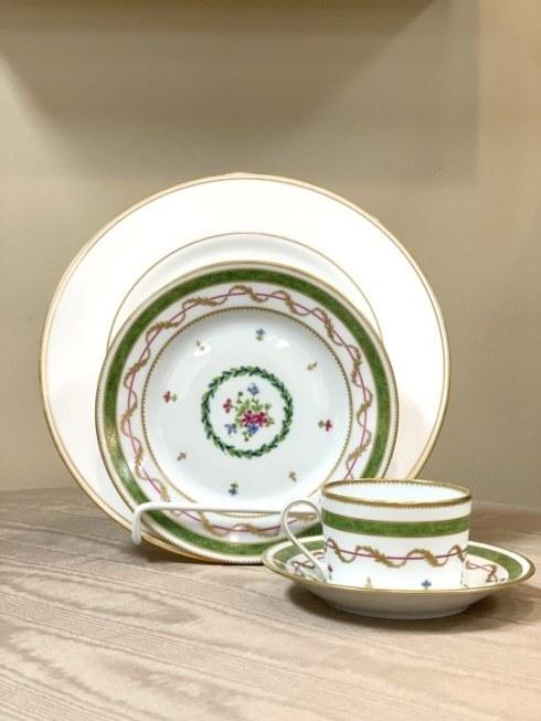 Federal Gold with Vieux Paris Vert 4 Piece Place Setting