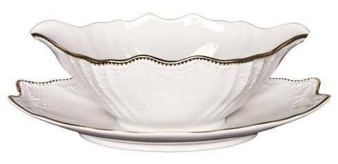Pieces of Eight Exclusives   Simply Anna Gold Gravy Boat and Stand $150.00